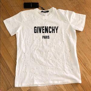 Gvnchy Paris Oversized Distressed White+ Black top